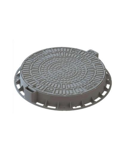 Capac plastic pentru gradina gri D=800mm PL=600mm H=100mm A15 /35188-84