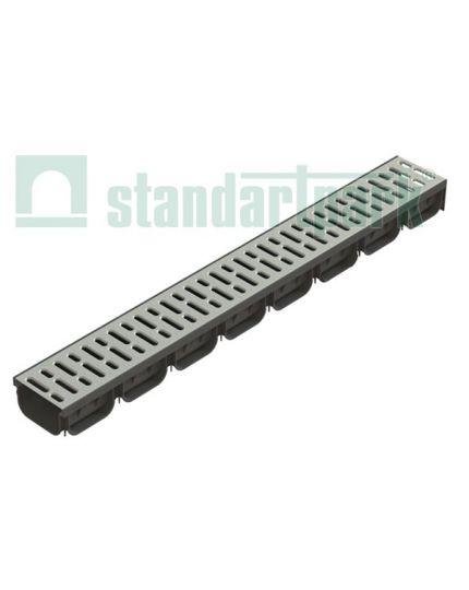 Complect Rigola Spark PP Dn100 1000x130x70 cu gratar OTZN A15 /0881011