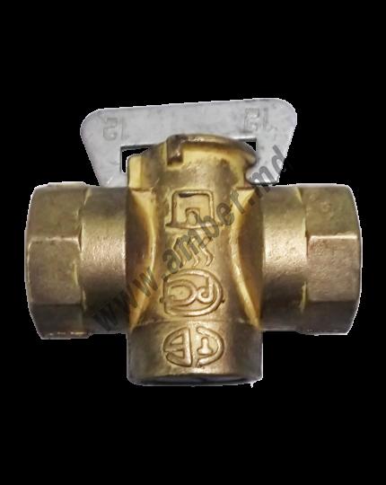 Robinet cu cep din bronz p/u gaz
